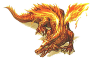 Fire dragon illustration