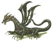 Mage dragon illustration