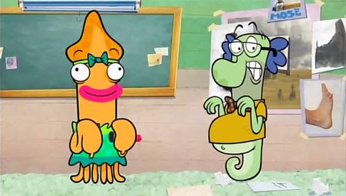 Fish Hooks / Pecezuelos: Temporada 02 Capitulo 14 - Misterio en la Feria de Ciencias / Peces trabajando