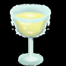 Glass of pony semen