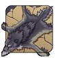 Black Wolf Pelt