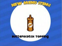 Unlocking butterscotch topping