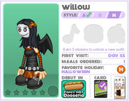 Willow's Halloween Outfit in Bakeria