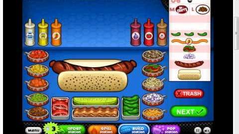 Papa's Hot Doggeria - Doan as a customer