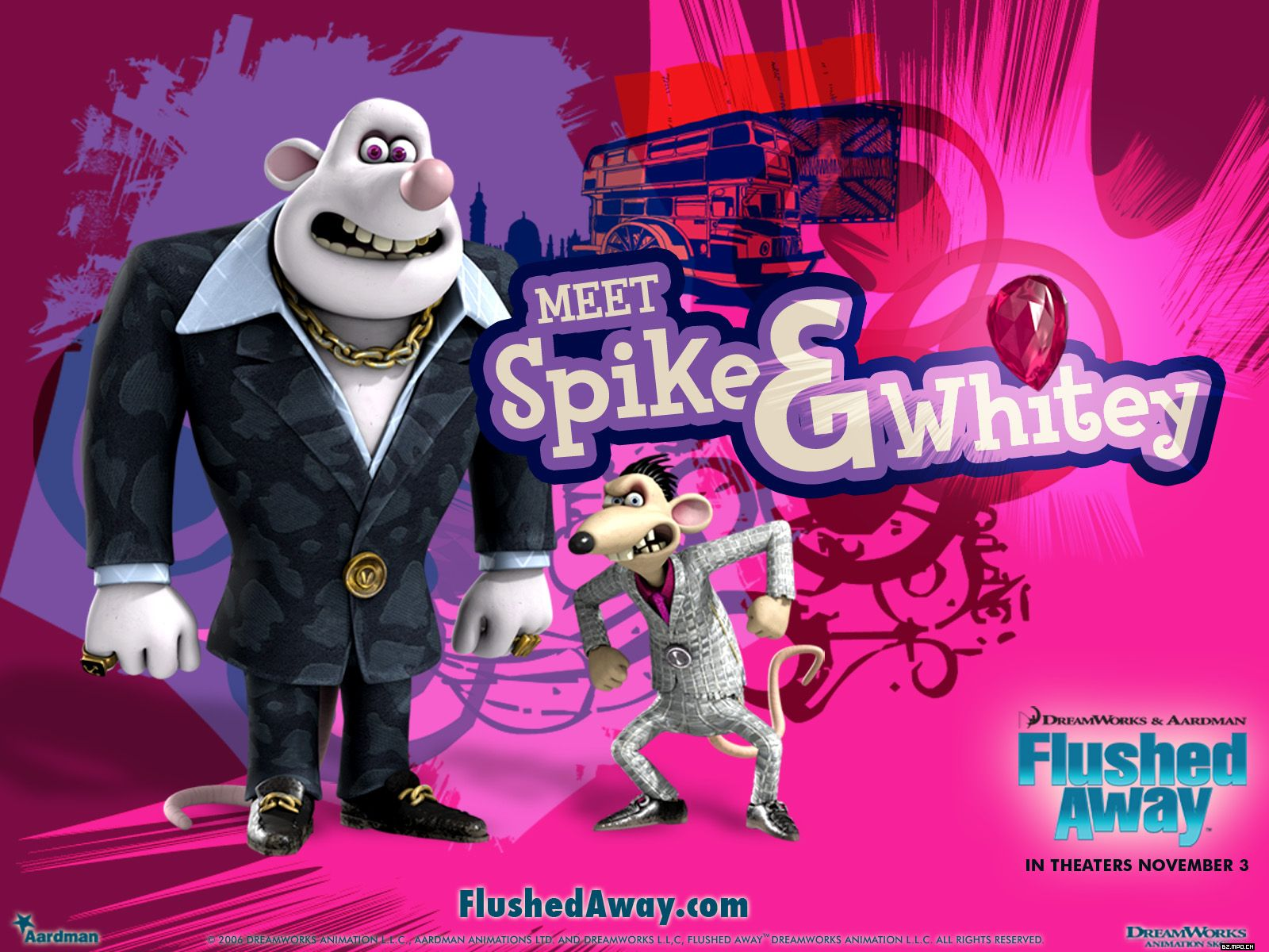 Image result for flushed away spike and whitey