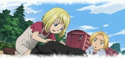 Winry and ed by lovefma-d3auf8o
