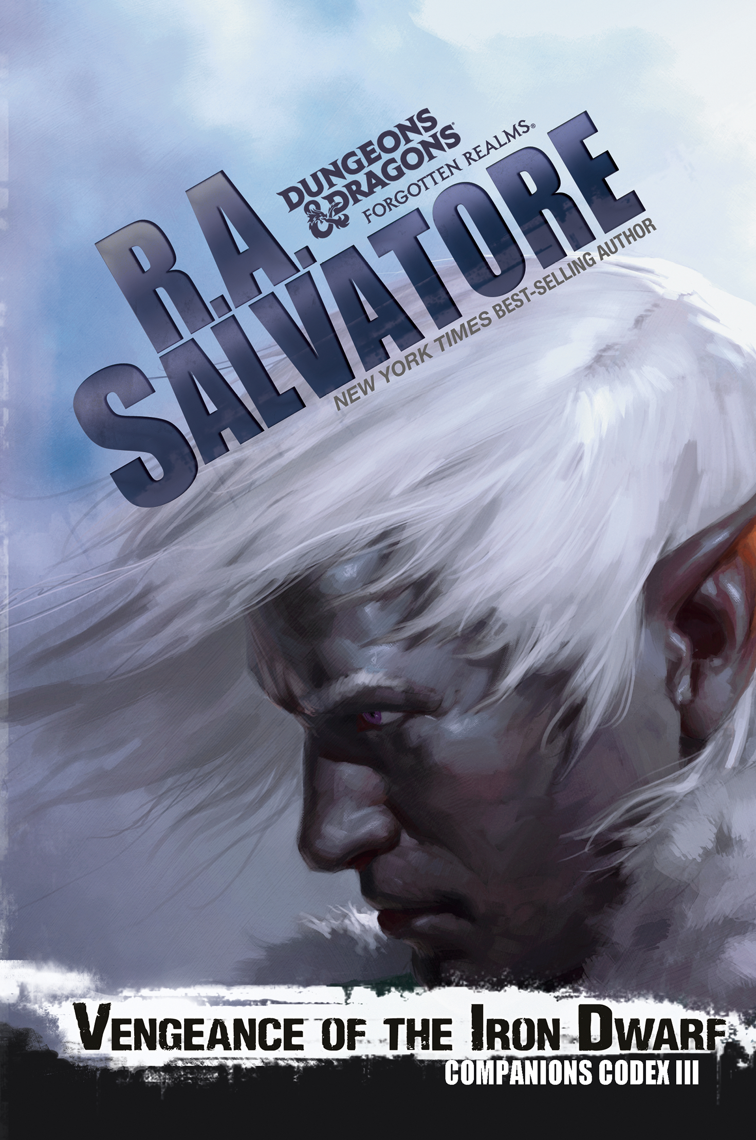 Portada del libro Vengeance of the iron dwarf, de R. A. Salvatore