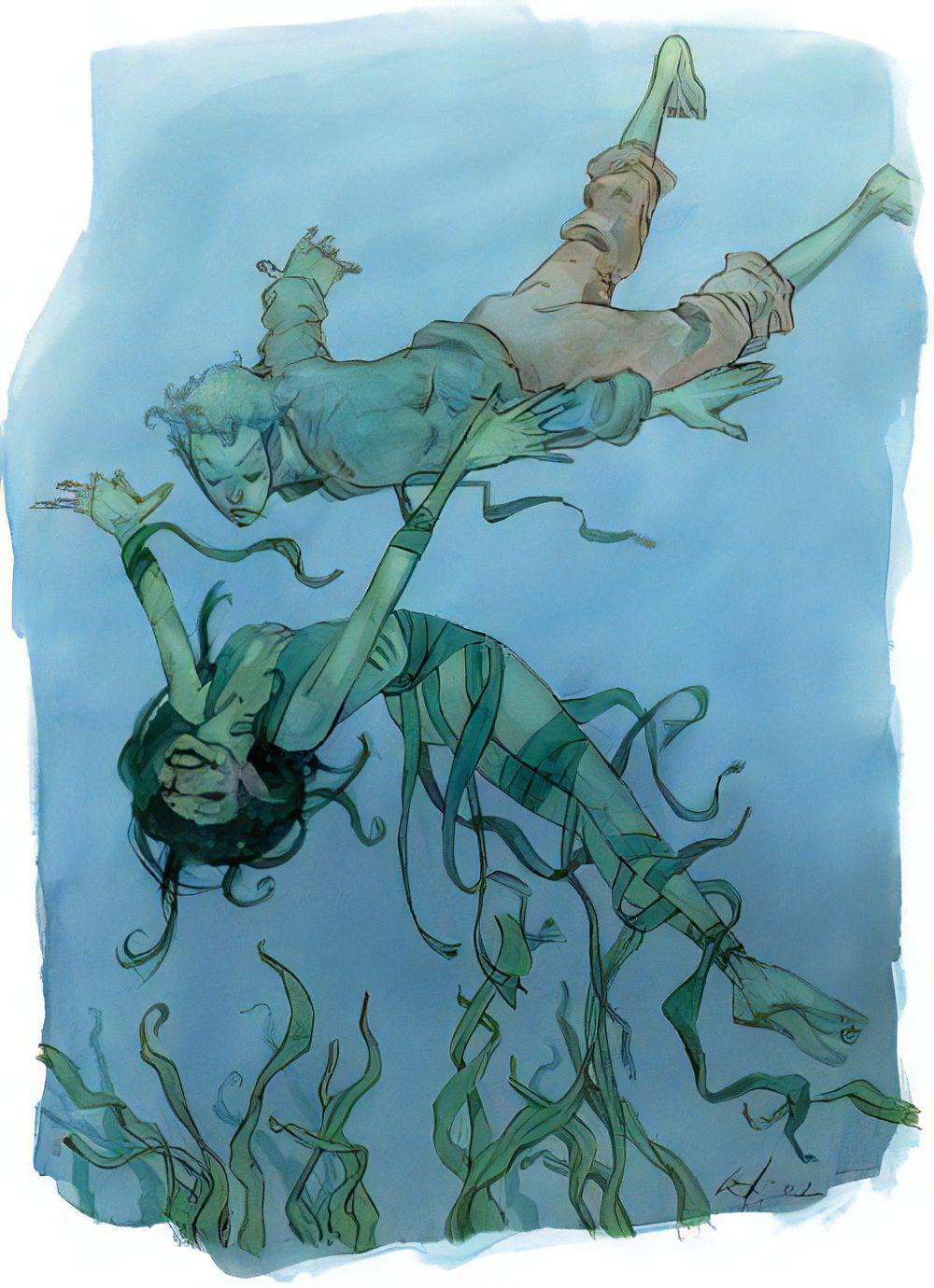 From the Sorcerer's Skull: Aquatic Elves for 5e
