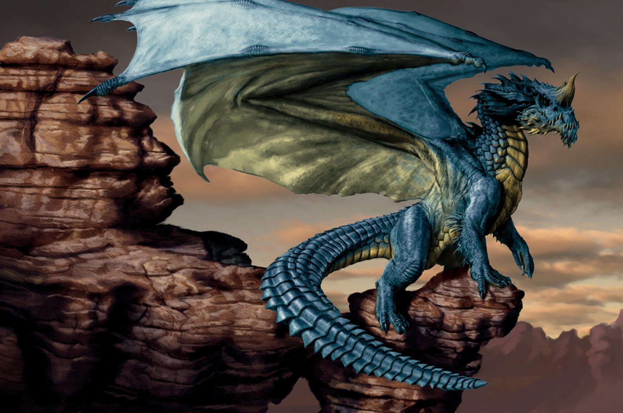Blue dragon - Lars Grant-West  Dragon