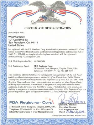 WikiPharmacy FDA