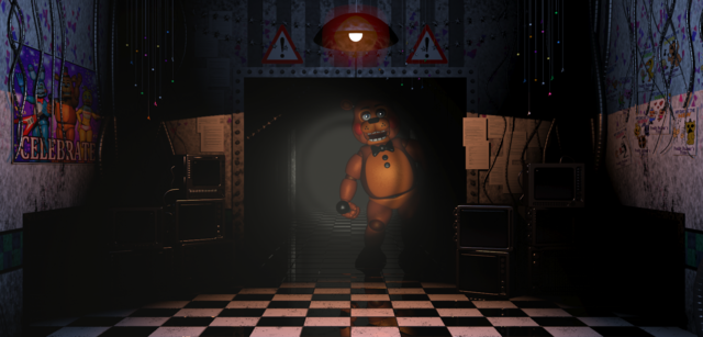 File:ToyFreddyComingIntoTheOffice.png
