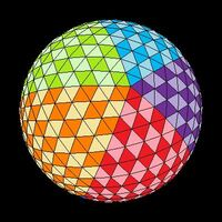 Icosahedron colored