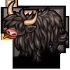 Black Highland Cow-icon