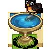 White Bird Bath-icon