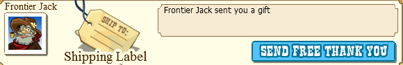 Frontier Jack Shipping Label