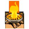 Raised Campfire-icon