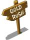 Gold Rush Sign-icon