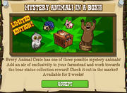 Mystery animal in a box