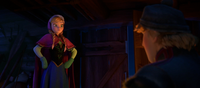 Anna enlisting Kristoff's help