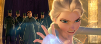 Elsa faces the guards