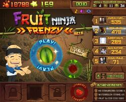 Fruit Ninja Frenzy Screen