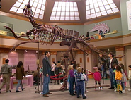 Please don't touch the dinosaur