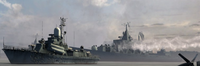 Russian fleet ambushing supply run