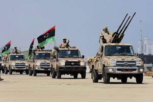 Libyan army forces in Tripoli