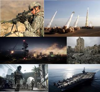 Iran War collage