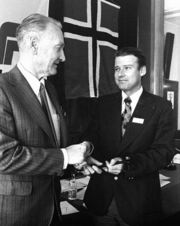 Carl I. Hagen with Arve Lønnum