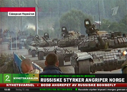Russo-Norwegian War TV2 Nyhetskanalen Russian Tanks
