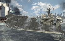 USS Nimitz sinking