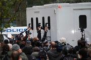 Assange prison van