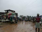 Liberia - Muddy market
