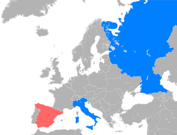 Map of the Belligerents