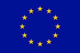 Europe flag w gold stars