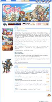 Gaiaonline homepage 2003