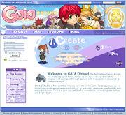 Gaiaonline homepage 2005