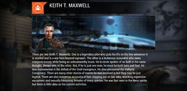 Keith T. Maxwell in Galaxy on Fire 3