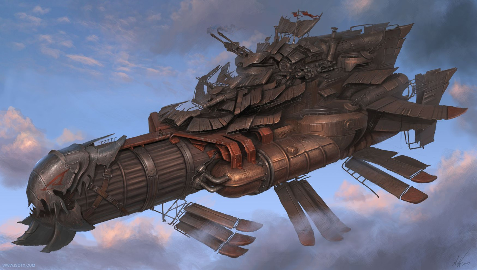 Steampunk Airships Battle Steampunk Airship Picture