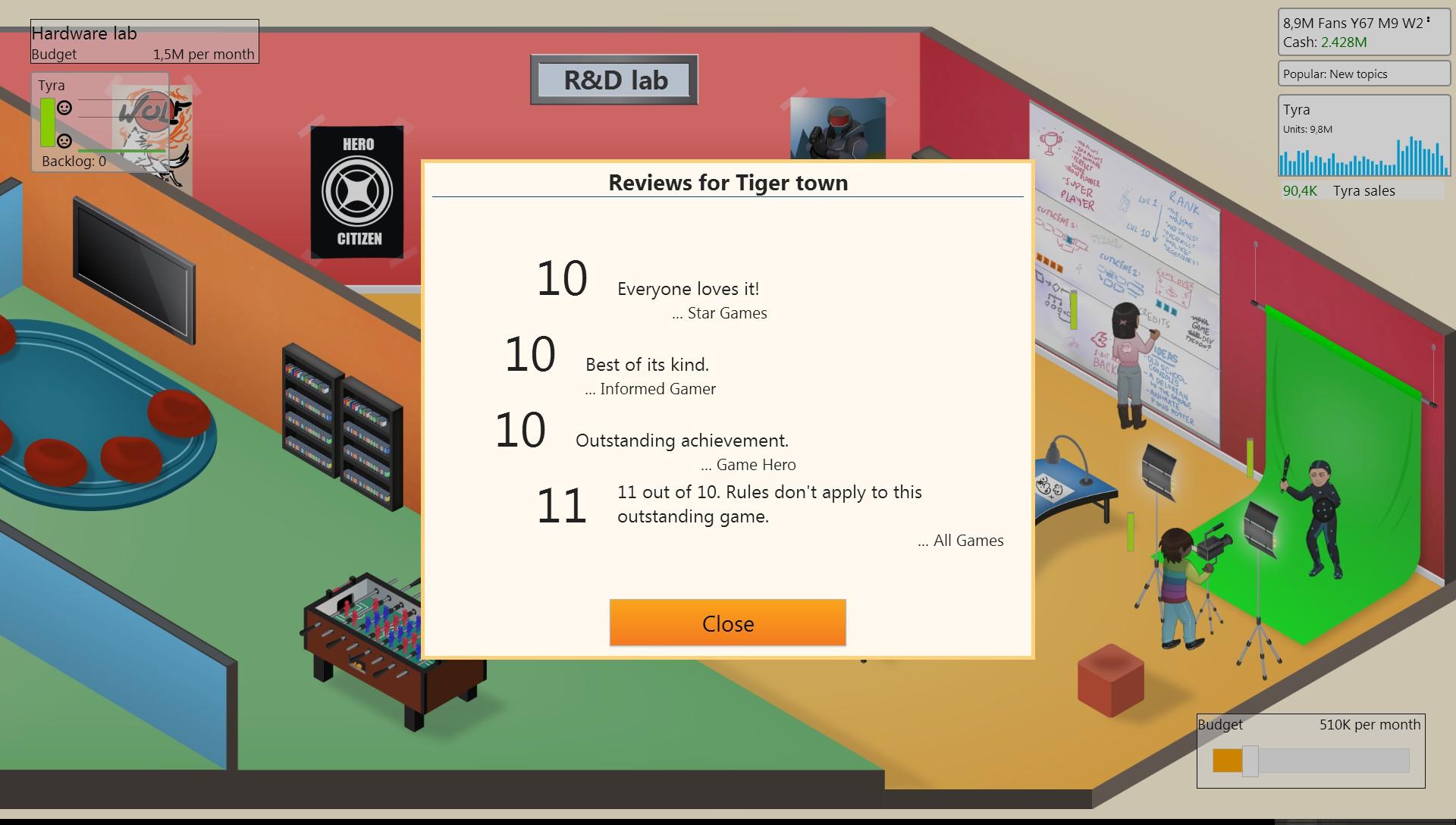 Как сделать 10 из 10 в game dev tycoon 653