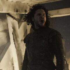 Jon during the battle of Castle Black in