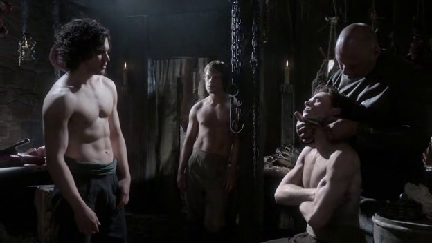 File:Jon, Robb and Theon 1x01.png