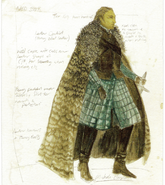Ned Stark costume Season 1 concept art