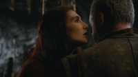 Melisandre talking to davos