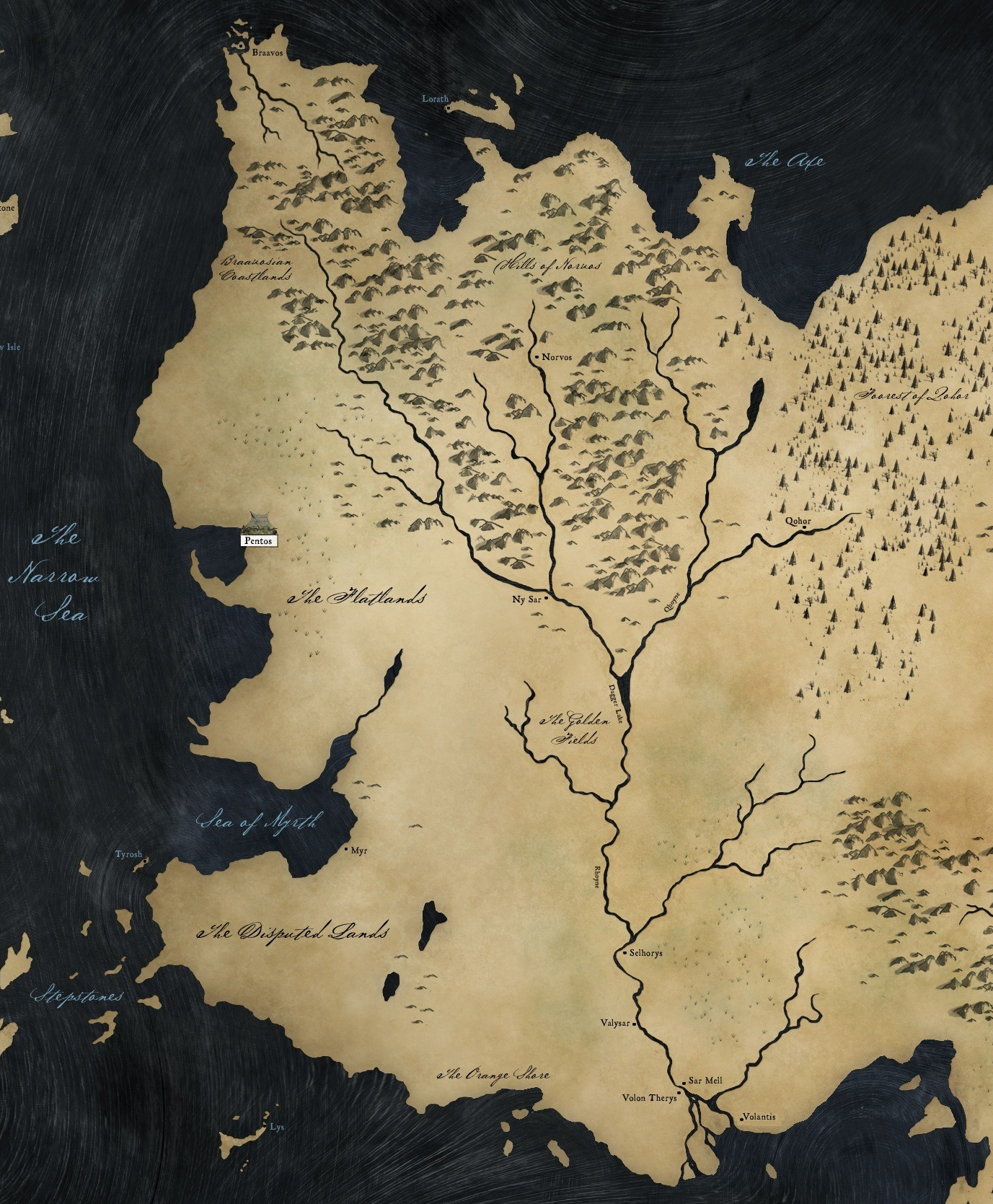 the free cities braavos map game thrones