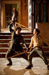 Arya, Ned and Syrio 1x03