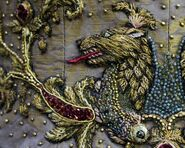 308 Sansa wedding dress embroidery 2
