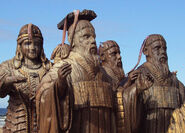 The Seven statues