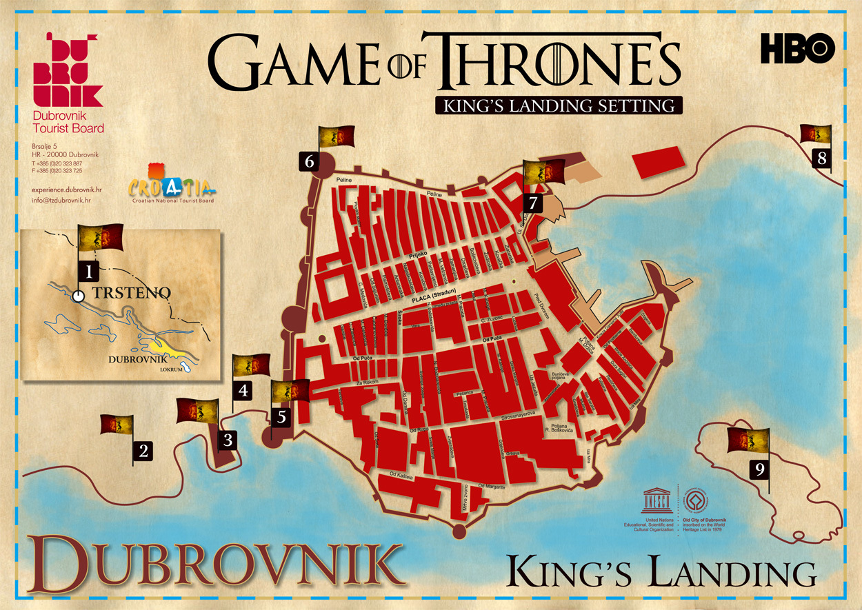 croatia tourist guide 1 dubrovnik city map of game of thrones braavos map game thrones